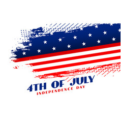 abstract 4th july independence day background vector image