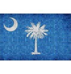 Abstract mosaic flag of south carolina vector