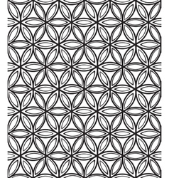 Abstract seamless monochrome floral pattern vector image