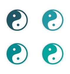 Assembly Sticker Yin Yang vector