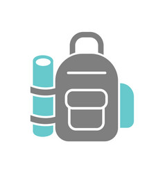 Backpack icon on white background for graphic and vector