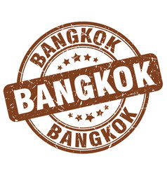Bangkok brown grunge round vintage rubber stamp vector
