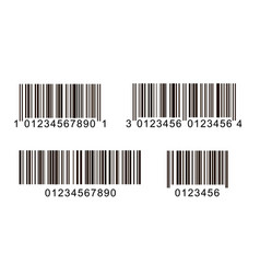 bar code icons product code line bar symbol vector image