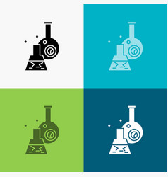 beaker lab test tube scientific icon over various vector image