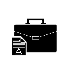 Briefcase and regular lightbulb icon vector