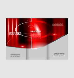 brochure design template frame for images vector image