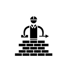 building black icon sign on isolated vector image