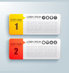 Business steps infographic concept vector