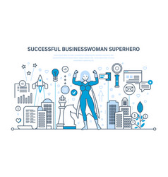 businesswoman is superhero in business clothes vector image