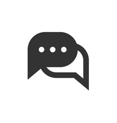 chat speech bubble and dialog balloon filled style vector image