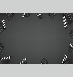 cinema wallpaper social media message background vector image