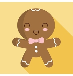 Cookie cartoon icon Merry Christmas design vector