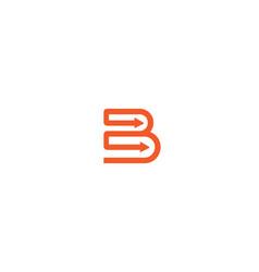 creative initial letter b arrows logo vector image