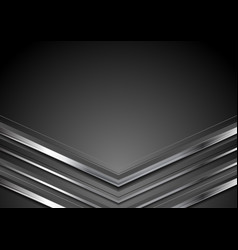 dark grey abstract tech background with metallic vector image
