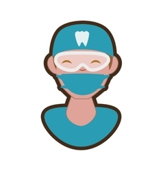 Dentist professional character icon vector
