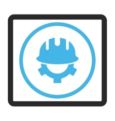 Development helmet framed icon vector