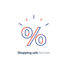 discount line icon shopping sale offer sign vector image