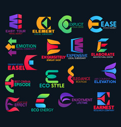 E modern color creative corporate identity design vector