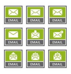 email signs and icons set mail message vector image
