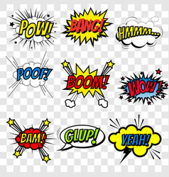 emotions for comics speech bubble vector image