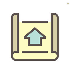 engineering drawing plan icon design vector image