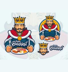 English breakfast mascot design vector
