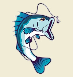 Fishing mascot vector