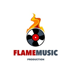 Flame Music Logo vector image