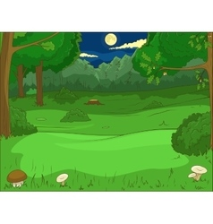 Forest cartoon educational game vector