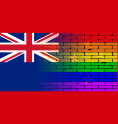 Gay rainbow wall new zealand flag vector
