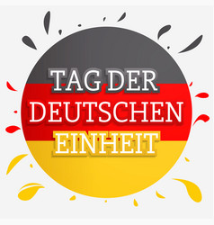 german unity day concept background hand drawn vector image