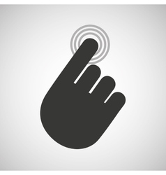 hand touching design vector image