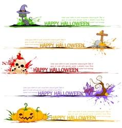 Happy Halloween Header vector image