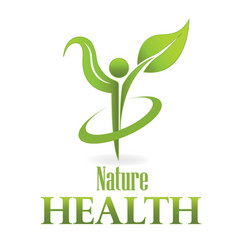 health nature green leaf care icon vector image