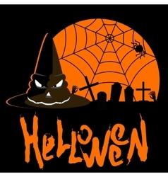 Helloween poster hat vector