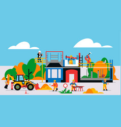 house is under construction construction site vector image