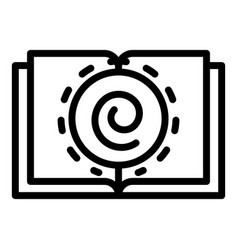 Hypnosis book icon outline style vector