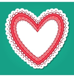 Lace heart frame vector