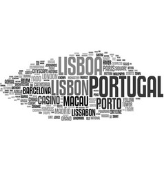 Lisboa word cloud concept vector