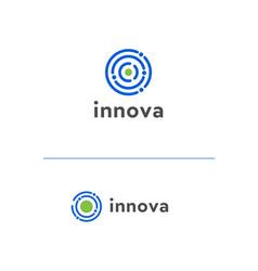 Logo template with molecule idea vector