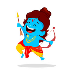 lord rama with bow and arrow vector image