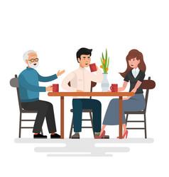 lunch in restaurant vector image