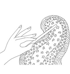 magic wand zentangle fantasy zendoodle wizard vector image