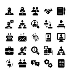 Meeting workplace solid icons pack vector