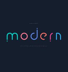 Modern colored font for logo on black background vector