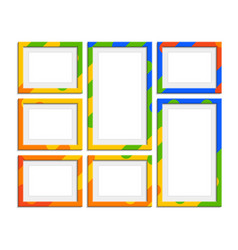 modern photo frames vector image