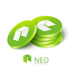 Neo cryptocurrency tokens vector
