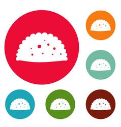 Pattie icons circle set vector