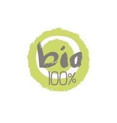 Percent Bio Food Label Design vector