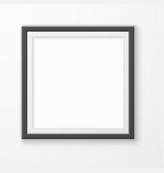 picture frame realistic blank image on gallery vector image